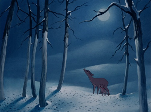 Bambi Winter Forest