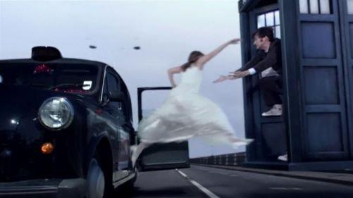 Doctor Who The Runaway Bride Taxi Chase 2